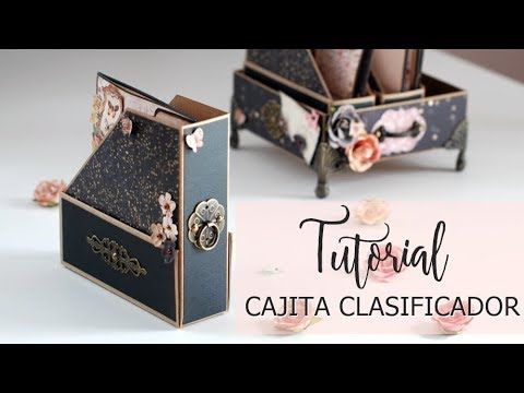 Tutorial cajitas archivadoras -2ª parte - YouTube Papel Scrapbook 649e2e9dcb16e