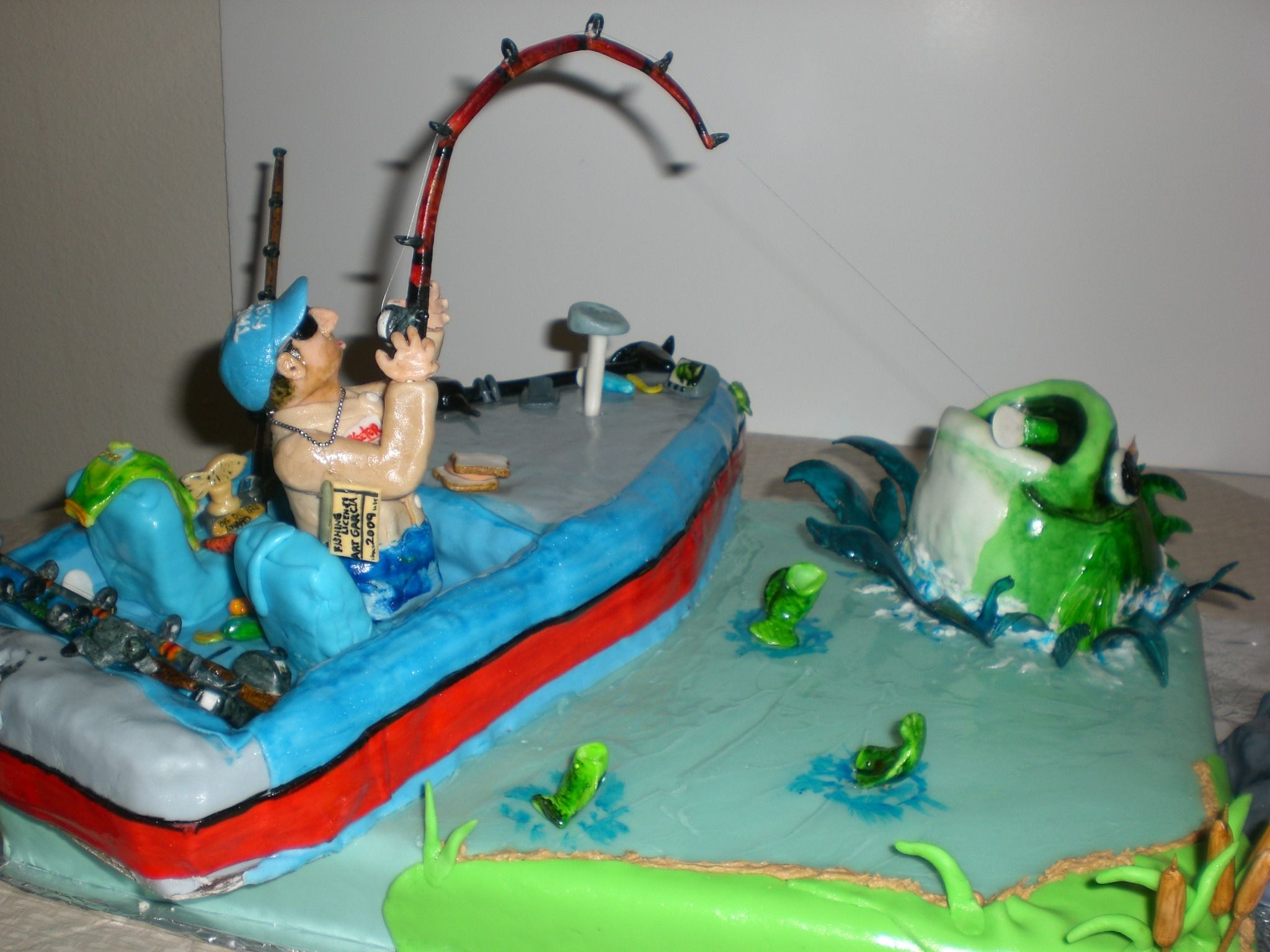 Bass Boat A Suprise For My Dads Th Birthday He Is A True Bass - Fishing boat birthday cake