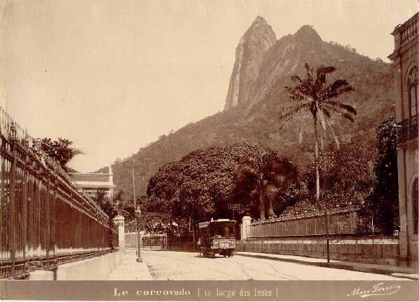 Corcovado before the construction of Christ the Redeemer, 19th century.
