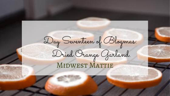 Day Seventeen of Blogmas: Dried Orange Garland.