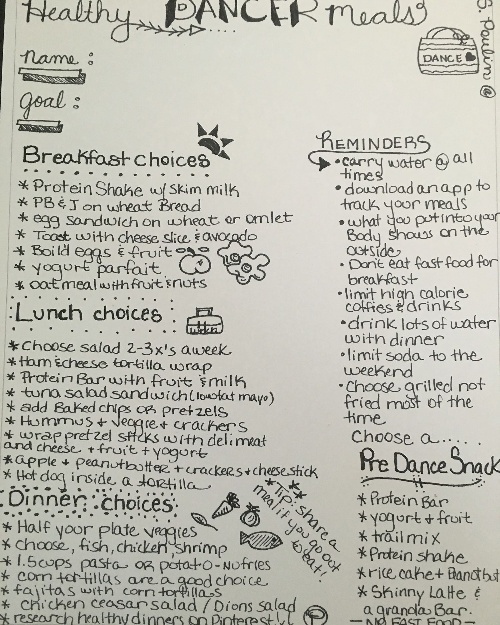 Teen meal plans