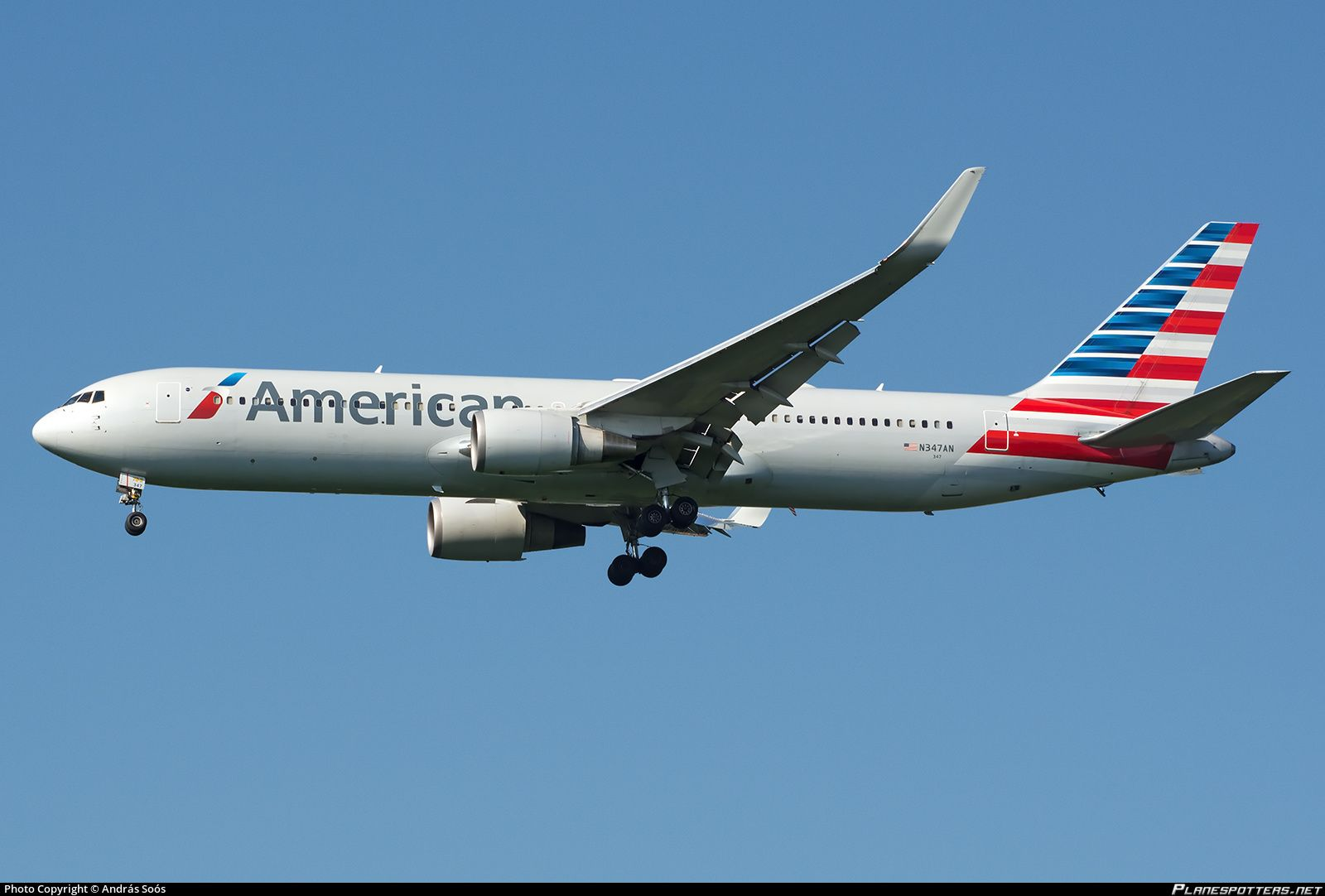 N347AN American Airlines Boeing 767323ERWL With