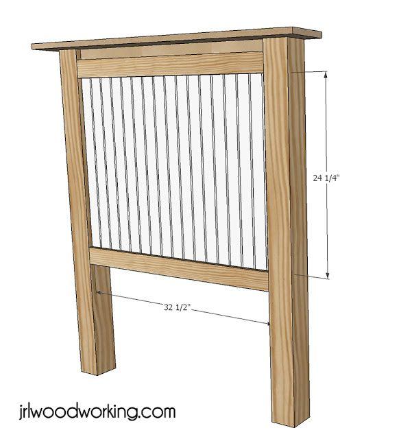 Twin Bed Beadboard Headboard | Diy headboards