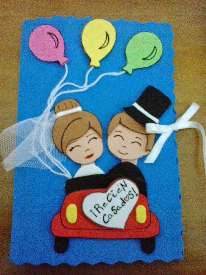 Gru/ßkarte Just married