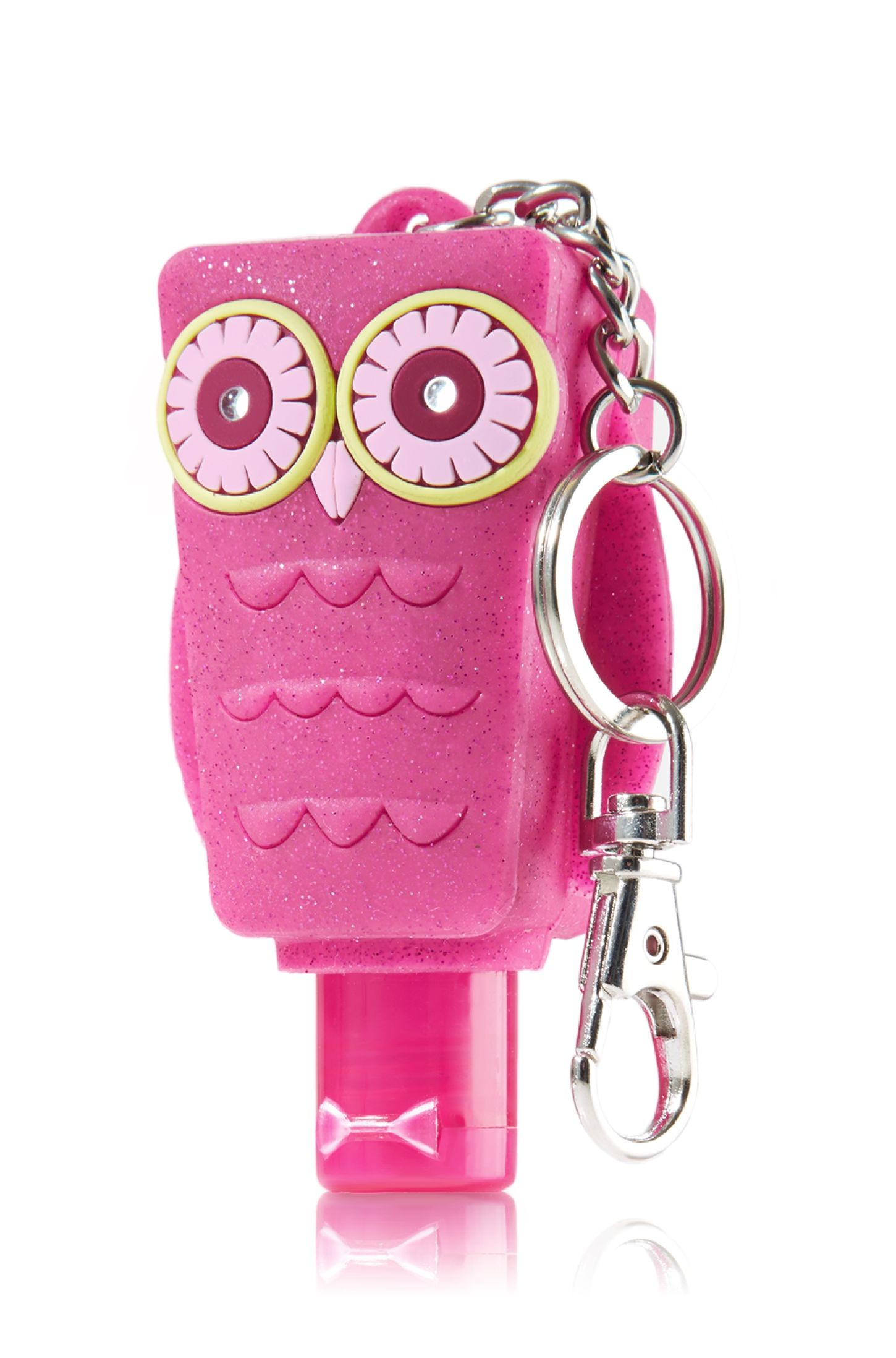 Light Up Pink Owl Keychain Pocketbac Holder Bath Body Works