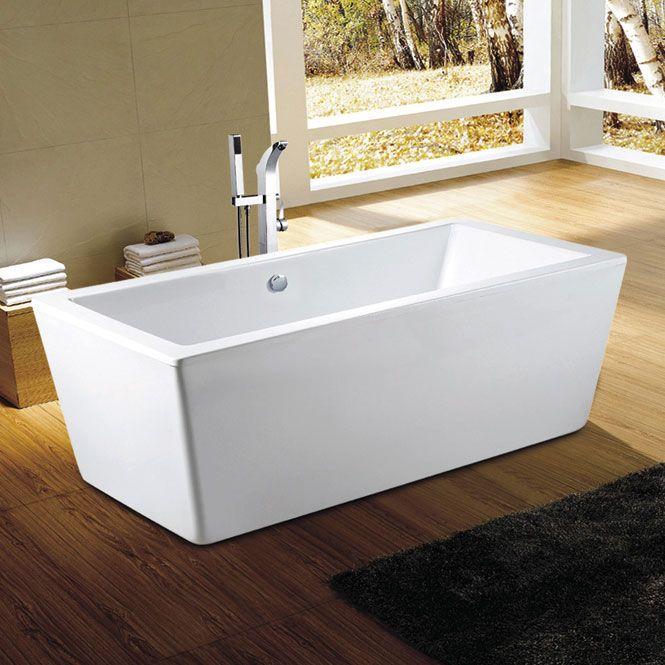Amaze Rectangle Freestanding Tub Beautiful Ergonomic And