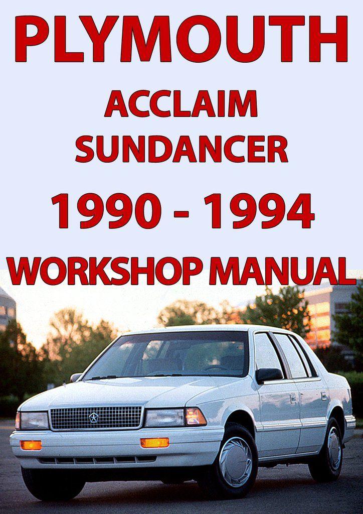Plymouth Acclaim  U0026 Sundancer 1990