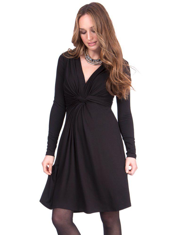 cb94f3da Black Knot Front Maternity Dress | Sukienki ciążowe Maternity ...