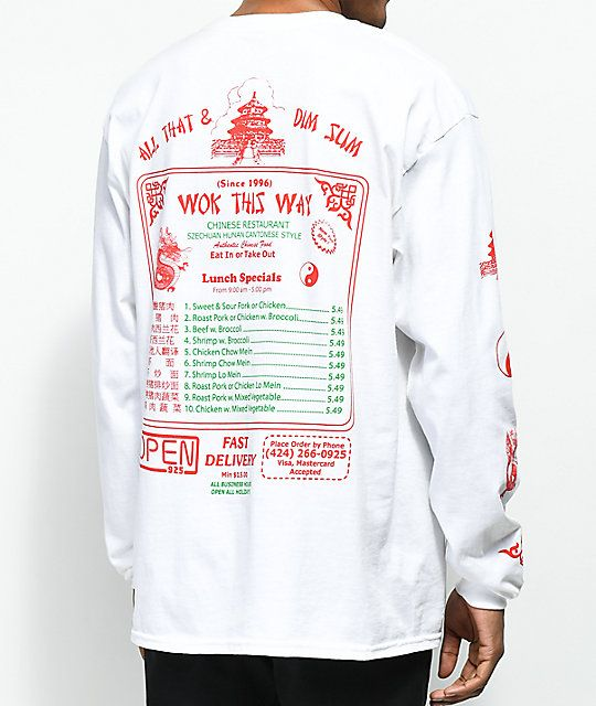 Open925 Wok This Way White Long Sleeve TShirt
