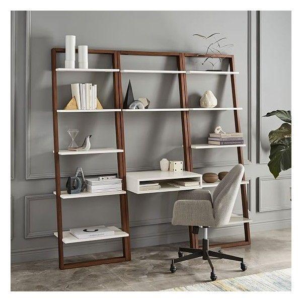 Ladder Shelf Desk Bookshelf, Ladder Shelf Storage Desk