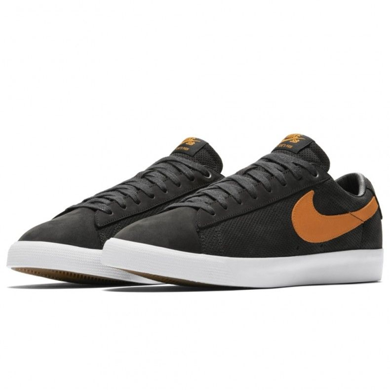 3ee128397c750 Nike SB Zoom Blazer Low GT  Cat s Paw  QS (Black Vivid Orange-White ...