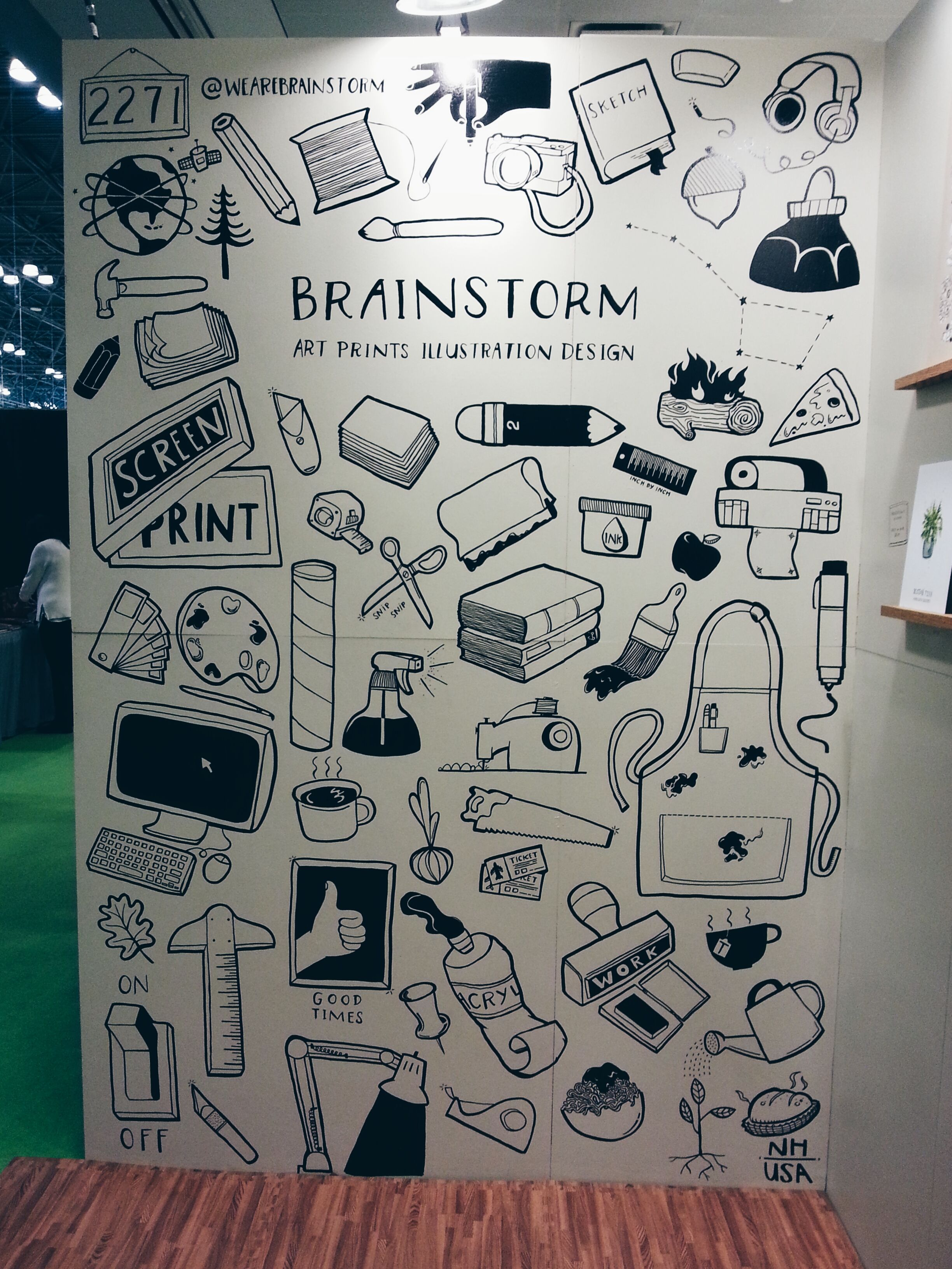 Brainstorm Booth Mural Doodle Wall Mural Design Mural Wall Art