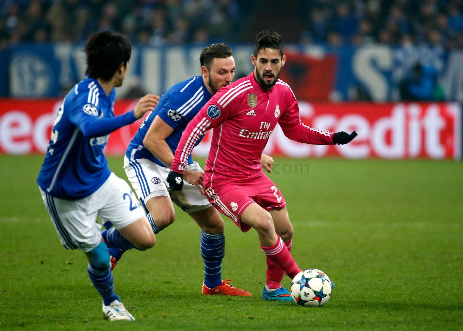 Isco of Real Madrid in action during the UEFA Champions