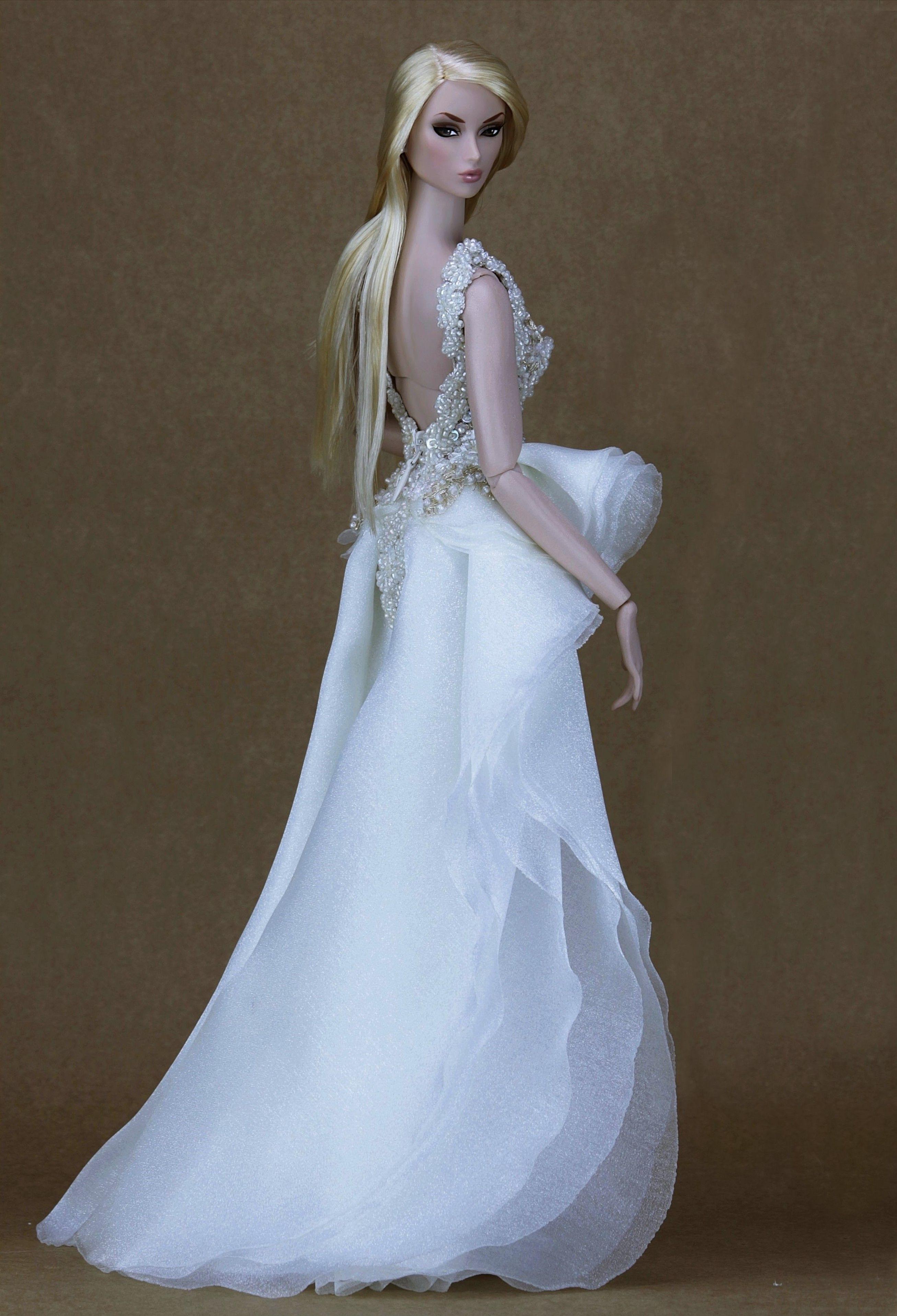Doll wedding dress   bridal dolls toniorealli  BarbieDoll Bridal