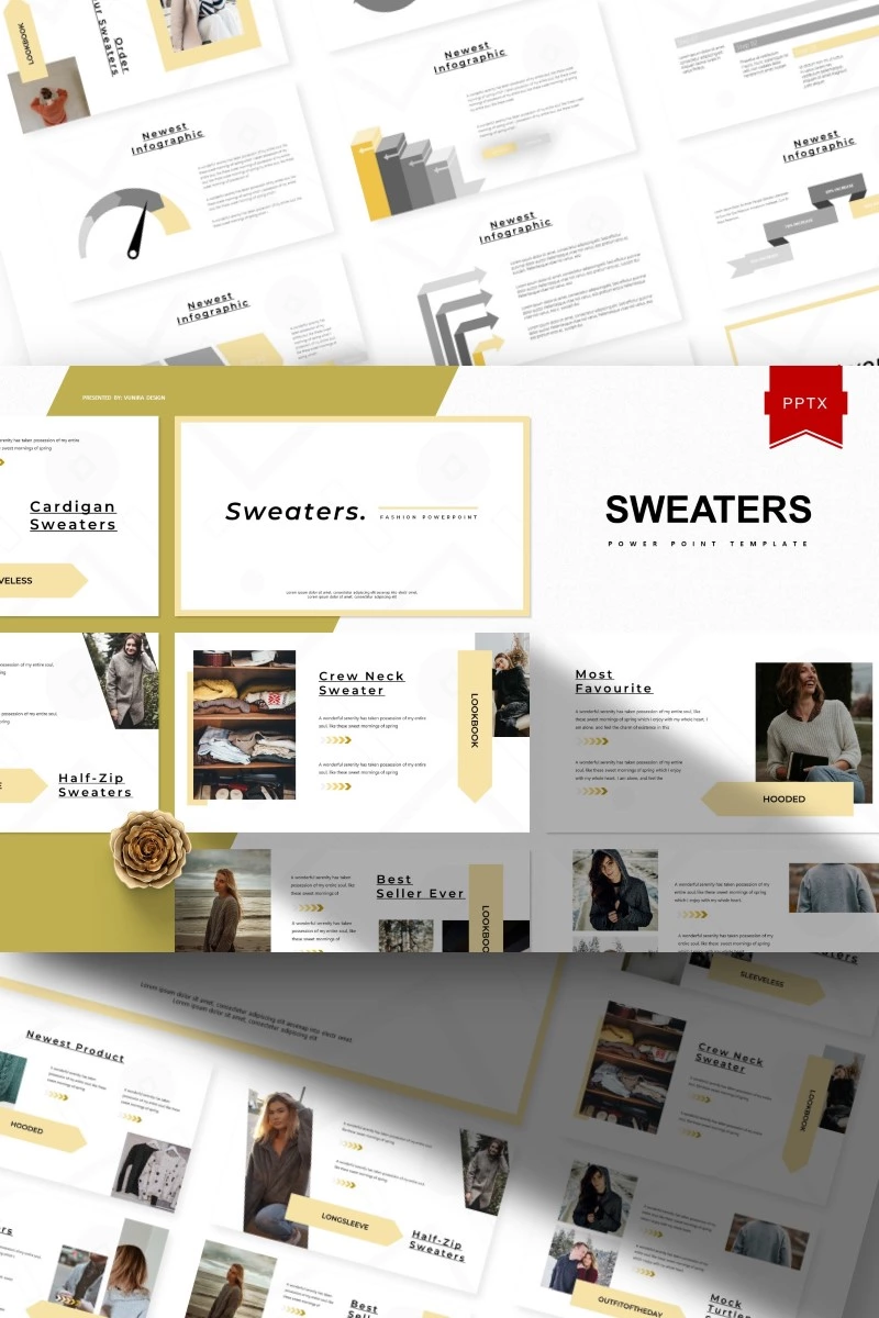 Sweaters Powerpoint Template 93380 In 2020 Powerpoint Templates Creative Presentation Ideas Powerpoint