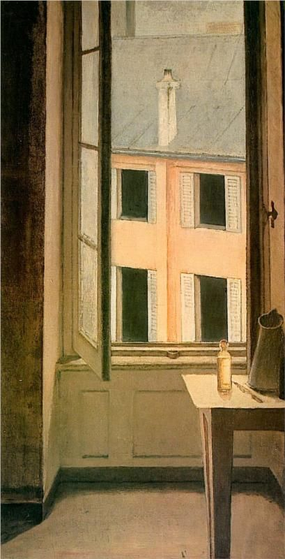 Cour de Rohan -1951 Balthus Windows and doors Pinterest - Peindre Fenetre Bois Interieur