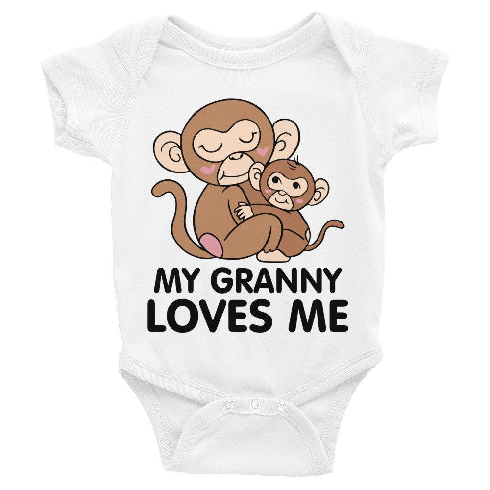 My Granny Loves Me Baby Bodysuit, Monkey Print Baby Clothes, Grandma Loves Me, Granny Shirt, Grandma Grammy, Mimi Loves Me, I Love My Grand is part of Baby Clothes Grandma - FPO), tracking numbers may not be provided                                                                                  Can I make modifications to my order once it has been processed  In order to ensure all items are processed quickly, I do not allow modifications to an order once it has been processed, including adding rush shipping, style, color, and size changes  Please make sure to double check before placing your order