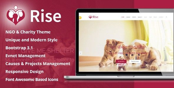 Rise - NGO and Charity Responsive HTML5 Template - Nonprofit - ngo templates