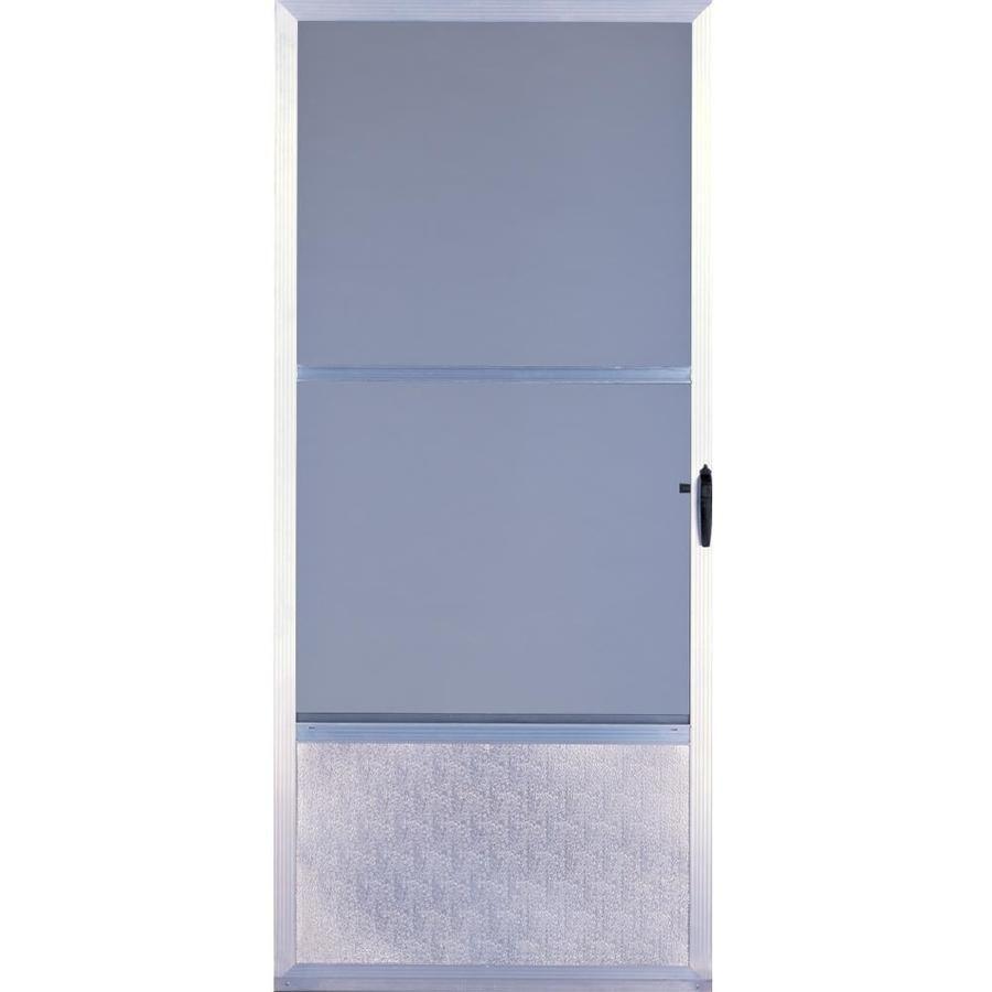 Comfort-Bilt Fremont Mill Mid-View Aluminum Storm Door With Self-Storing (Common 36-In X 81-In; Actual 35.875-In X 80-  sc 1 st  Pinterest & Comfort-Bilt Fremont Mill Mid-View Aluminum Storm Door With Self ...