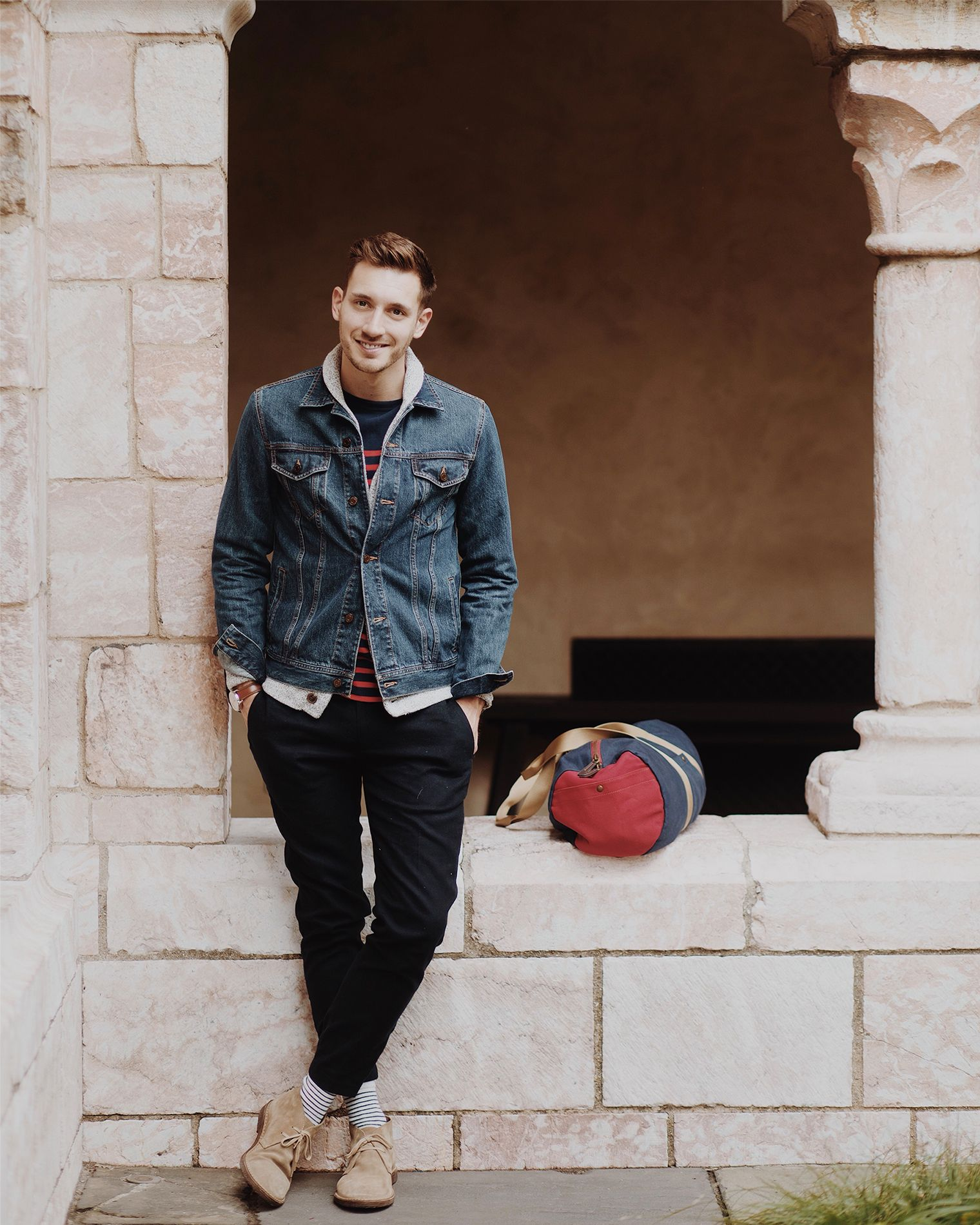 bffa8617c4df Playful Prep  Men s Fall Fashion 2017  ad  oldnavy  sayhi - Once I had the  denim jacket set I started to think about how to give the look a playful  prep ...