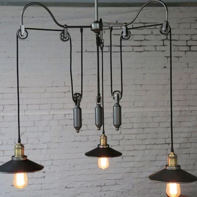 Retro American Country Industrial Style Pendant Light Loft Warehouse Hanging Lar Onde O Amor Esta