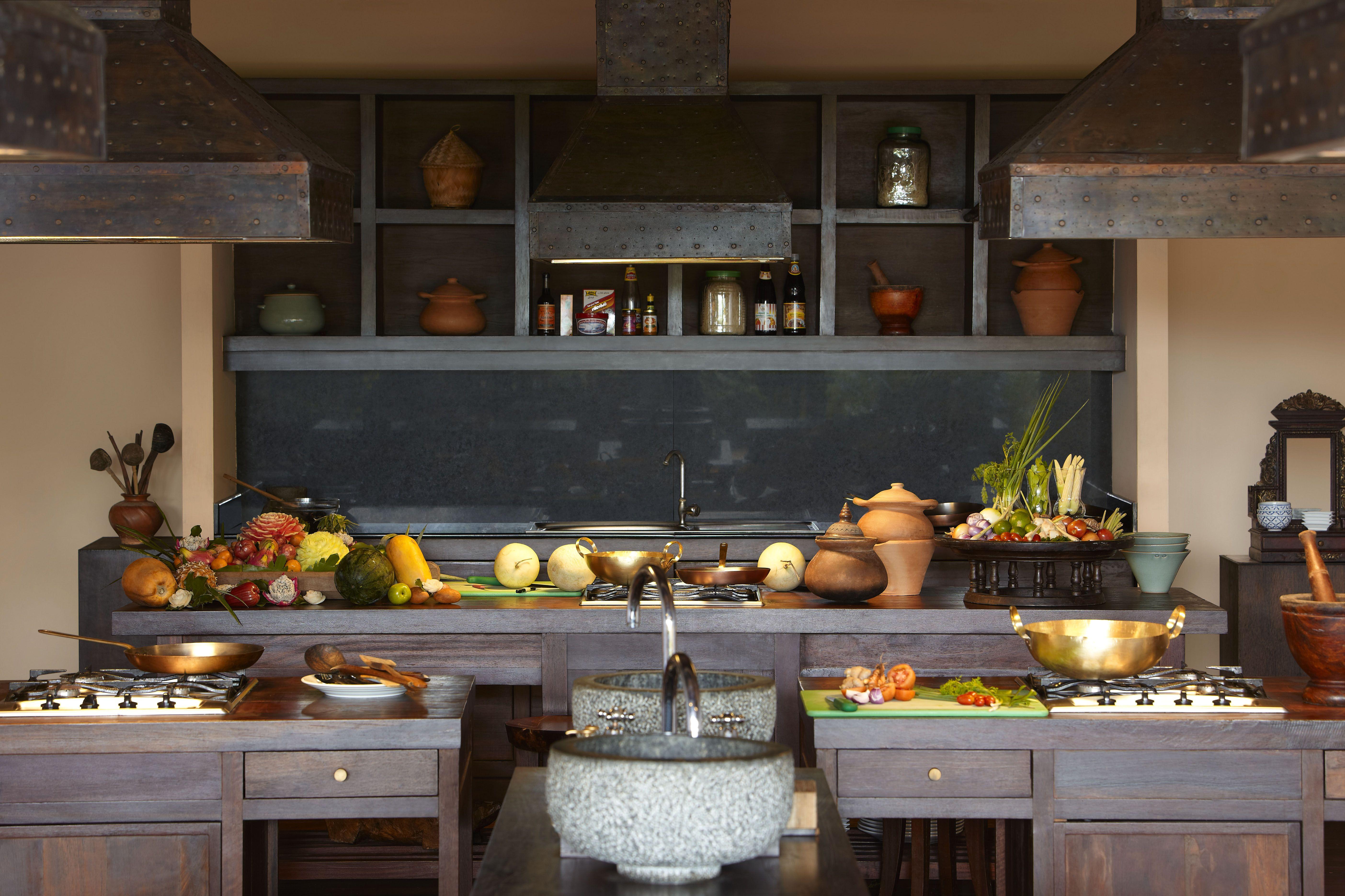 Cool Wooden thailandske køkken layout design på vores Spice-7020
