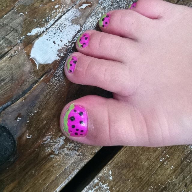 Ideas For Little Girls Toe Nails We Did These During Quiet Time