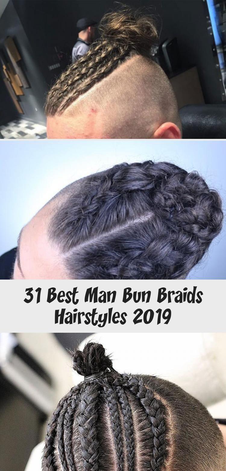 Dutch Braids On Guys Best Man Bun Braids Cool Braided
