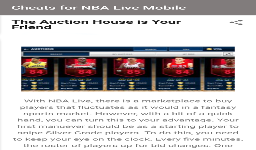 Cheats for NBA Live Mobile ##NBA, #Cheats, #Mobile, #Live