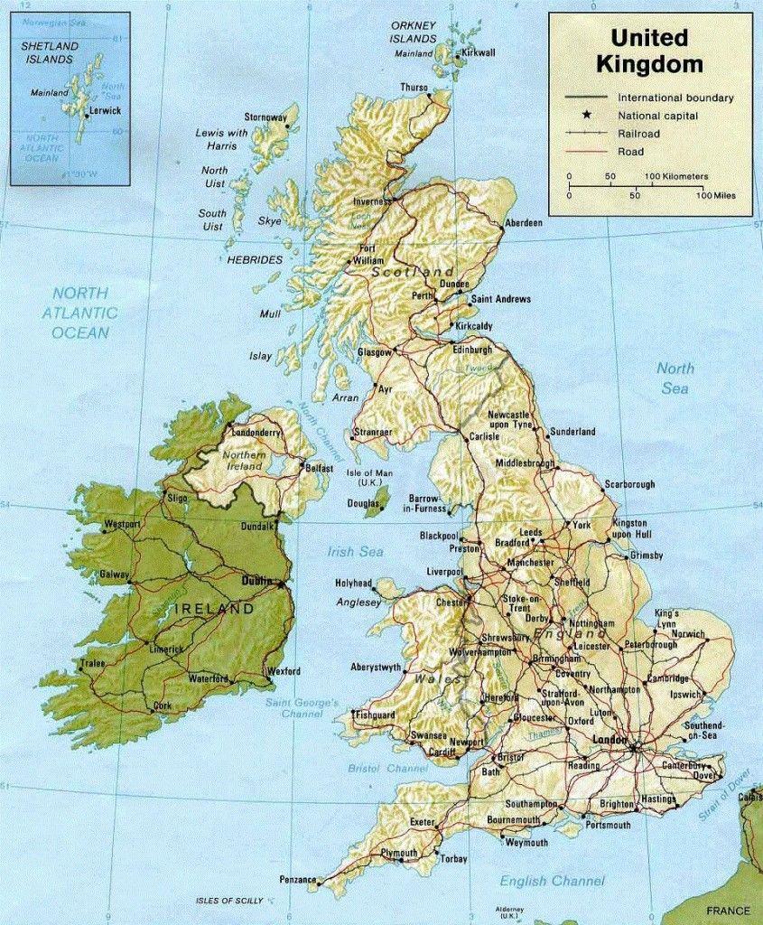 England Uk Geographical Map England Map Travel Around The World