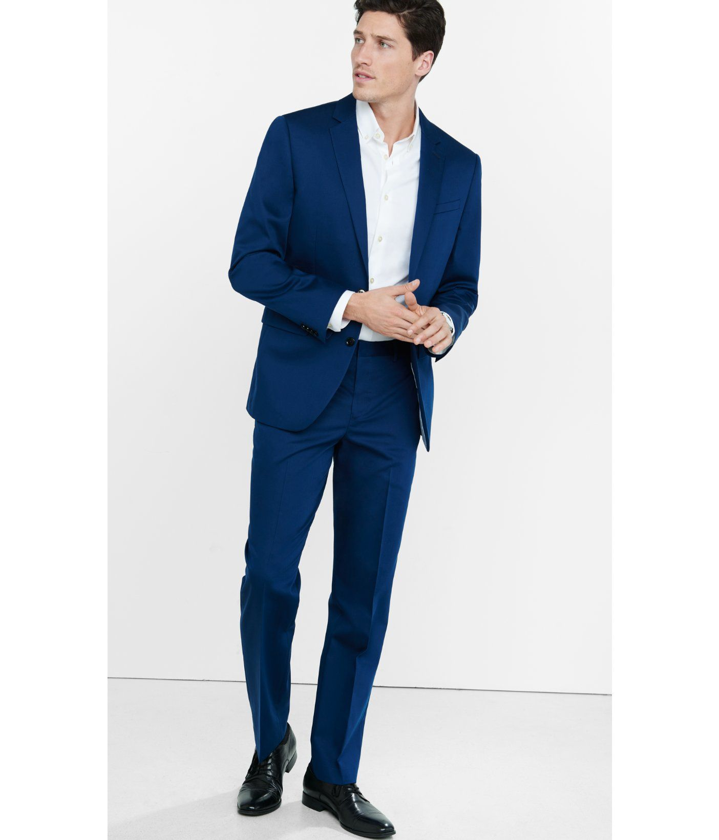 1df61a082d9 Men s Photographer Cotton Sateen Navy Blue Suit Pant