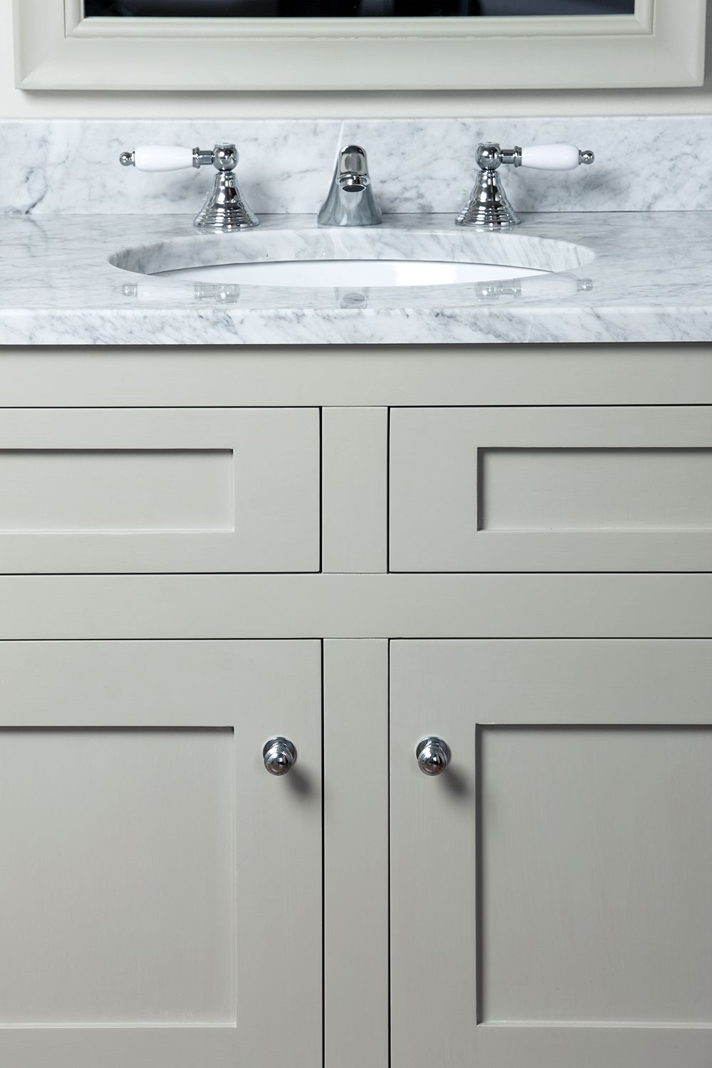 Ordinaire Shaker Style Bathroom Vanity Unit Uk   Abbey 36 In Bath Vanity (carrara  White)