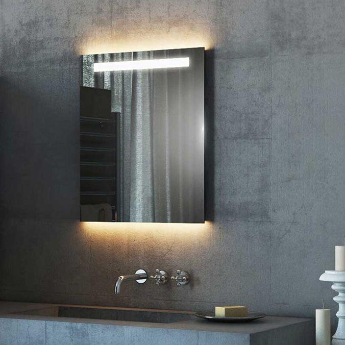 Light Mirrors Halo Range Enlighten Bathroom Mirror With Demister Amp