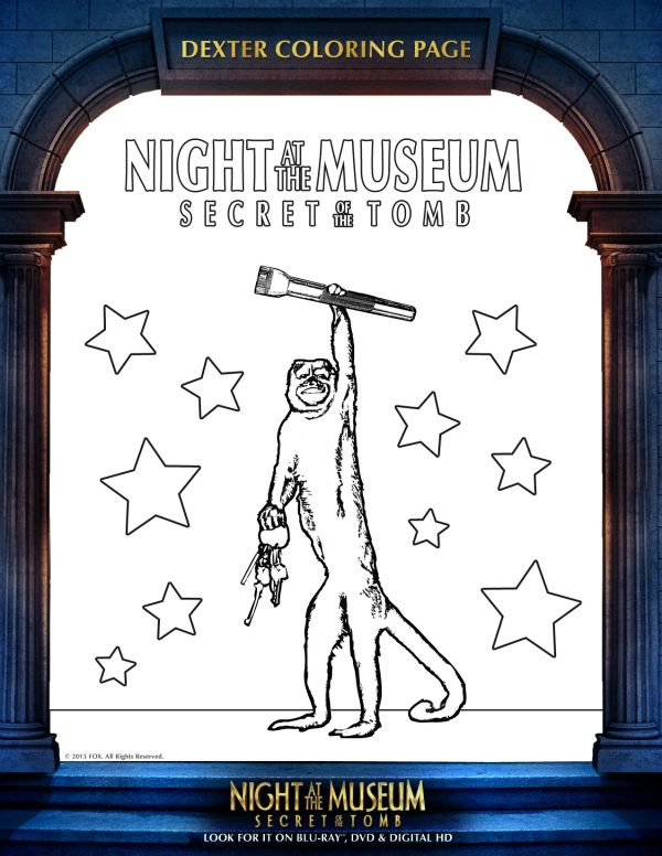 Night at the Museum Printable Dexter