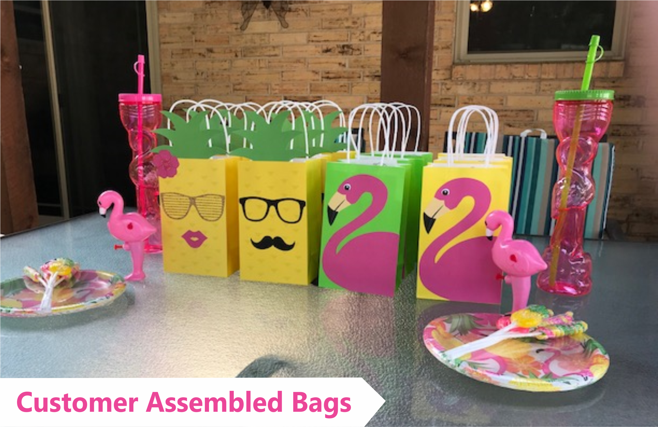 Decorate Your Flamingo Party Favor Bags With These Easy