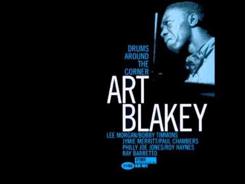 """Blakey's Blues"" performed by Art Blakey released on ""Drums Around the Corner"" (Blue Note Records, 1959). Blakey's powerful drum-dominated Jam with Philly Joe Jones and Roy Haynes which is one of my favourite Blakey-Recordings."
