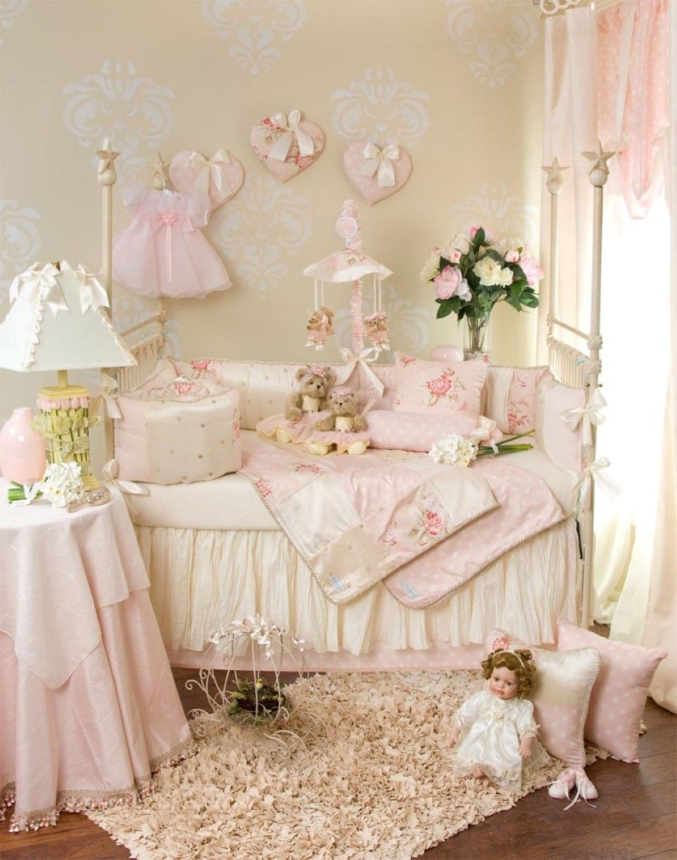 Merveilleux Winsome Little Girl Room With Luxury Bedding Set Plus Pink Table Skirt And  Rectangular Shag Rug