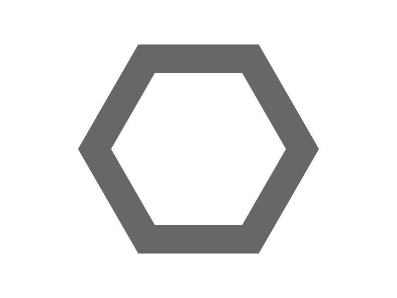 Hexagon Frame Craft Shape | Craftcuts.com | Mops free indeed 2017 ...