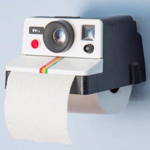 Polaroll Retro Camera Toilet P.