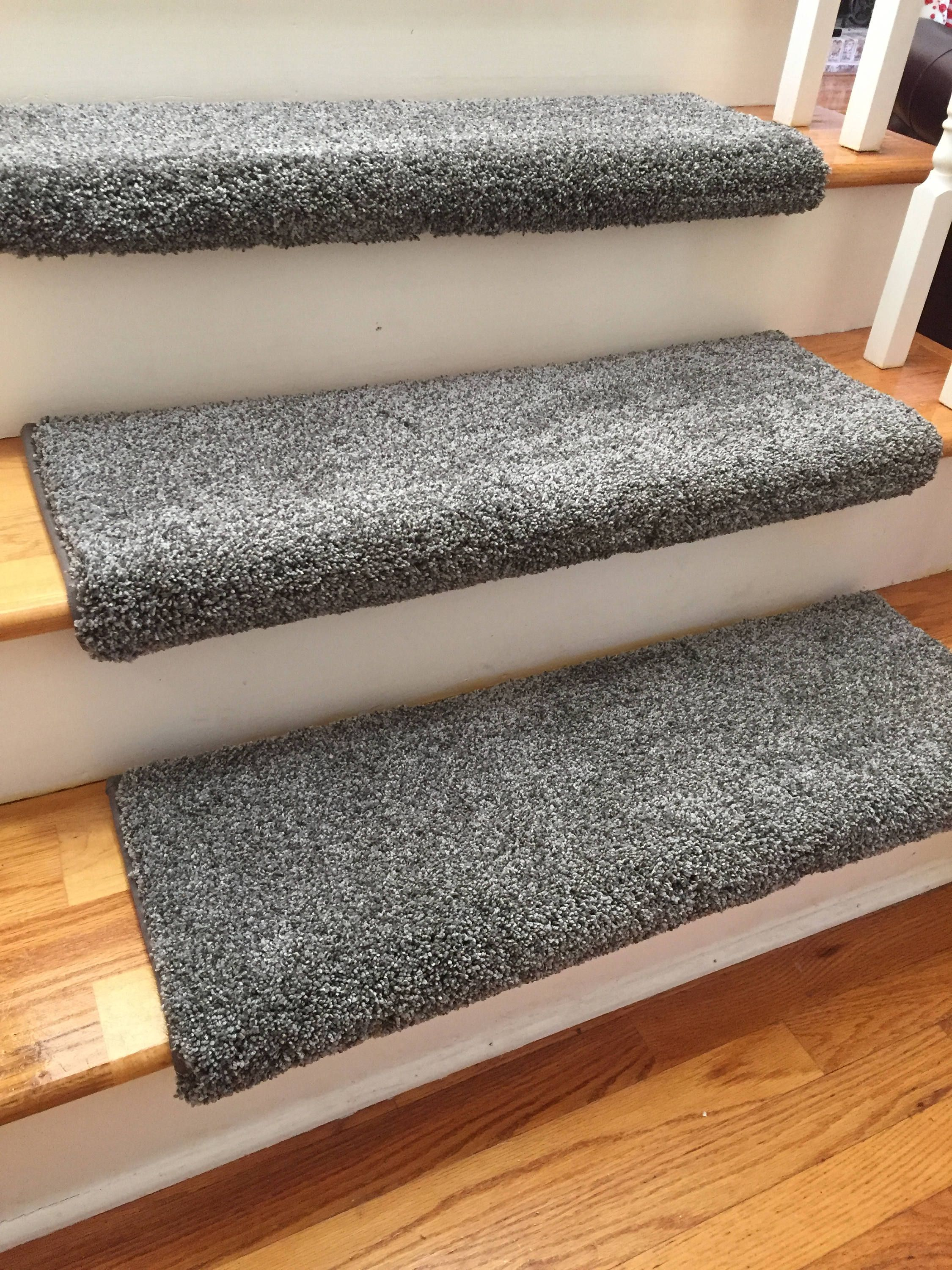 Dazzling Magma Grey Gray Plush Shag True Bullnose Padded Carpet Stair Tread For Safety Comfort Dog Cat Pet Sold Each Carpet Stair Treads Buying Carpet Grey Carpet