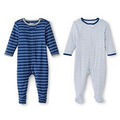 Circo™ Baby Boys  2-Pack Striped Footed Sleeper - Navy  0876b9fa9