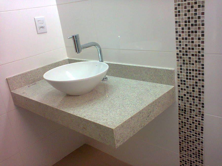 lavatório sobre balcão em marmoregranito Cuba para o banheiro  BANHEIRO   -> Cuba Banheiro Marmore