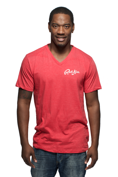 """Brand new """"Cursive"""" v-neck available now!"""