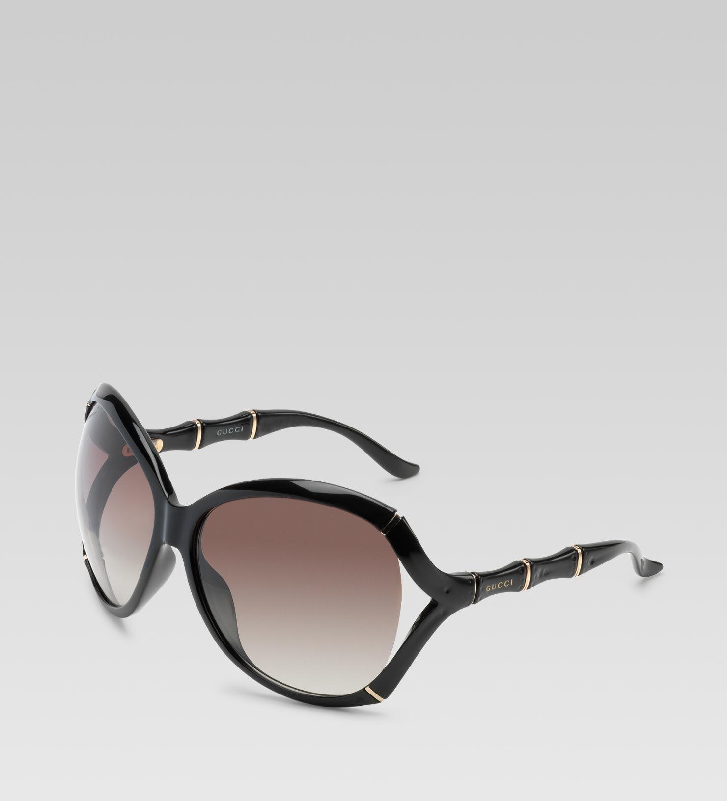 6950a52c79f Gucci Black Bamboo Sunglasses   OBSESSED!