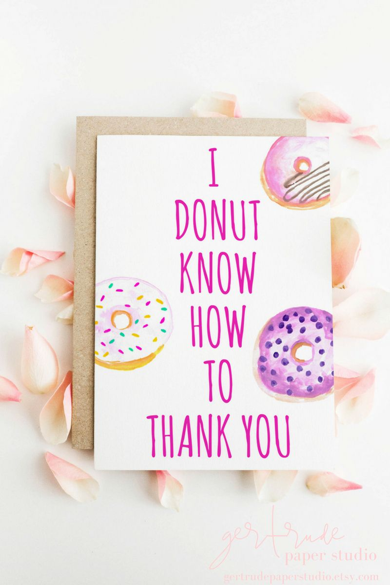 Yasss Donuts Everywhere Thank You Thank You Cards Thank You