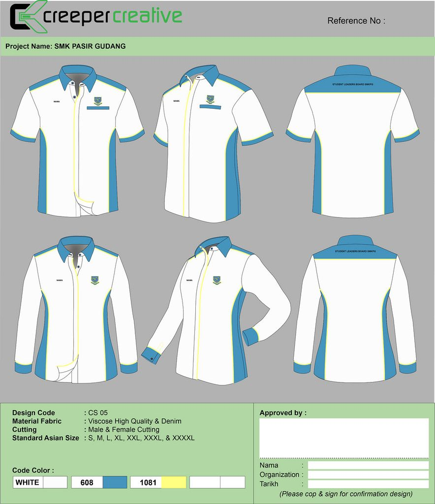 Download Collar Shirt Unigaya Confirm Desain Pria Ide