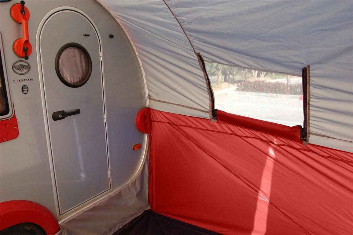The T trailer tent seals all the way around! Iu0027m thinking that the kids can sleep in the tent area and the trailer becomes the master bedroom! & See! The T@B trailer tent seals all the way around! Iu0027m thinking ...