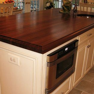 Walnut Wood Kitchen Island Countertop With Sink By Grothouse 2
