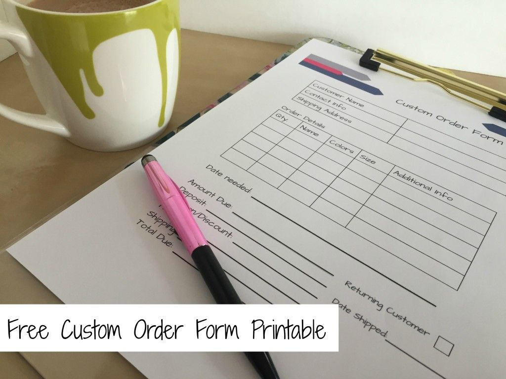 Printables | Pinterest | Order form, Craft fairs and Business on free template excel order forms, 2015 printable thirty-one order forms, custom craft order forms, free printable blank fundraiser order forms,