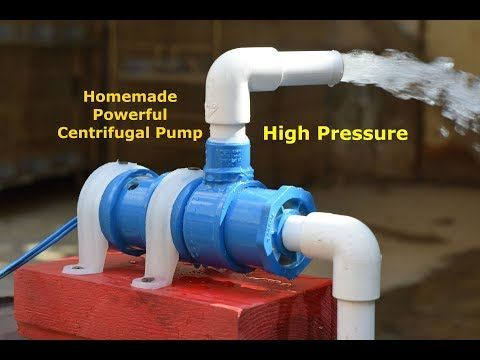 High Pressure Centrifugal Pump How To Make Powerful Water Pump Homemade Powerful Pump Youtube Diy Water Pump Centrifugal Pump Water Pressure Pump